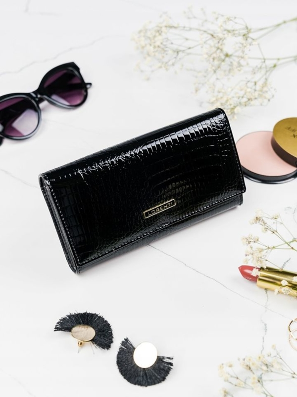 Women's Leather Wallet Black 2102
