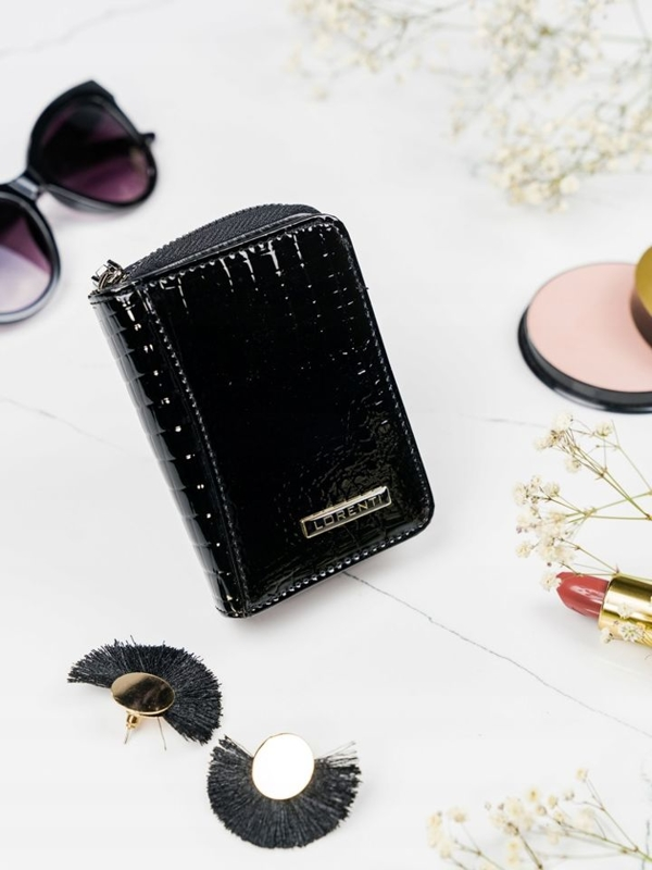 Women's Leather Wallet Black 2110