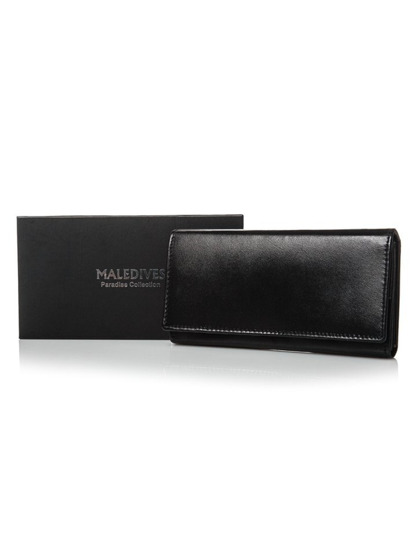 Women's Leather Wallet Black 2688