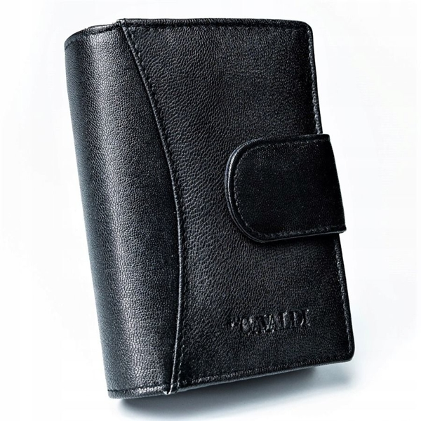 Women's Leather Wallet Black 2774