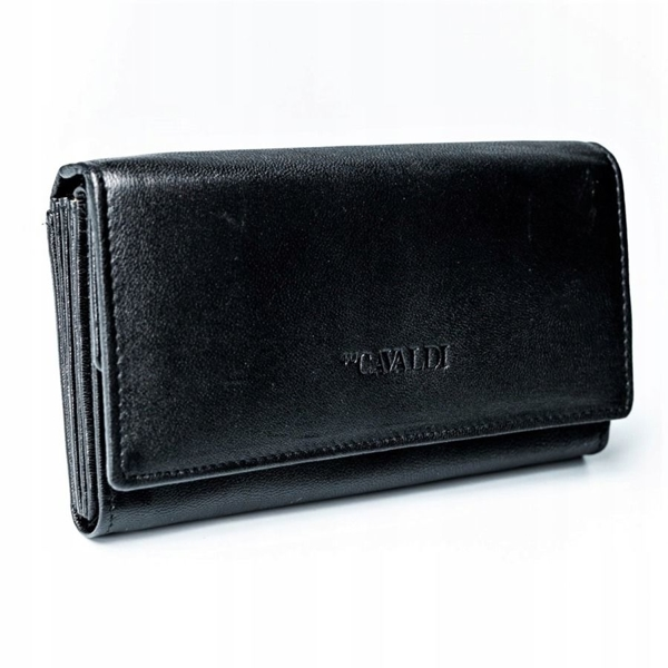 Women's Leather Wallet Black 2775