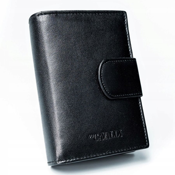 Women's Leather Wallet Black 2777
