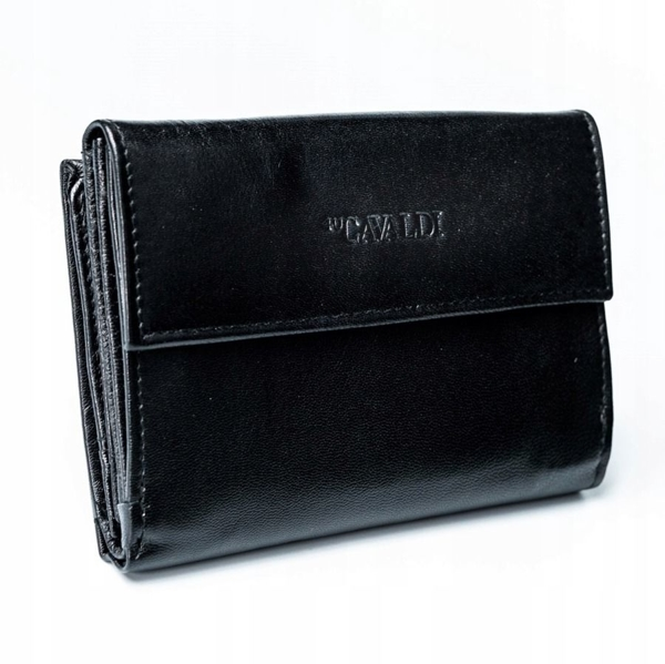 Women's Leather Wallet Black 2779