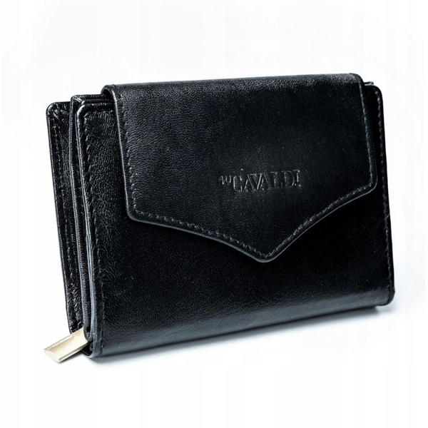 Women's Leather Wallet Black 2781