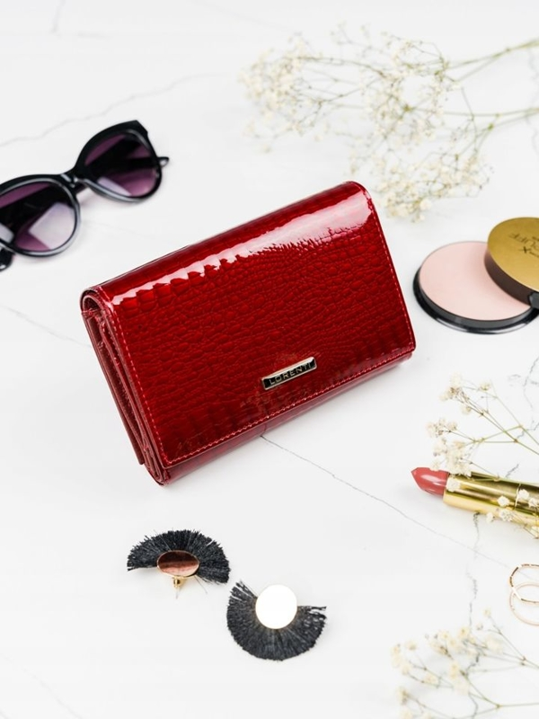 Women's Leather Wallet Red 2091