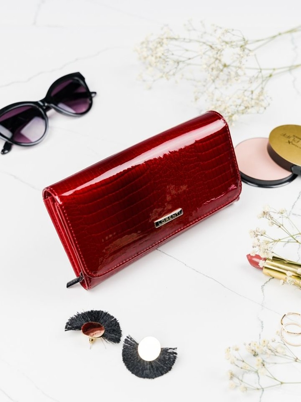 Women's Leather Wallet Red 2095