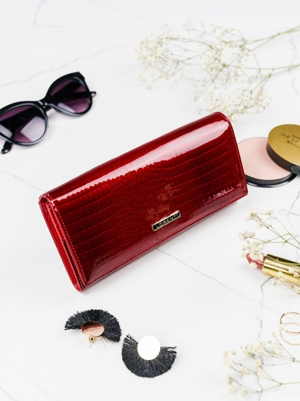 Women's Leather Wallet Red 2097