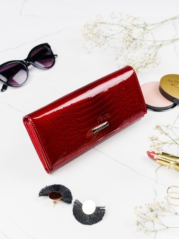 Women's Leather Wallet Red 2099