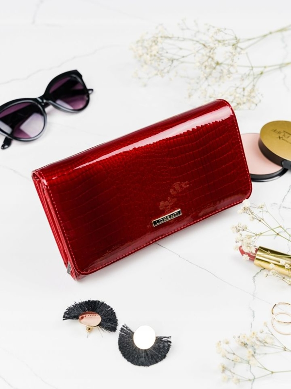 Women's Leather Wallet Red 2111