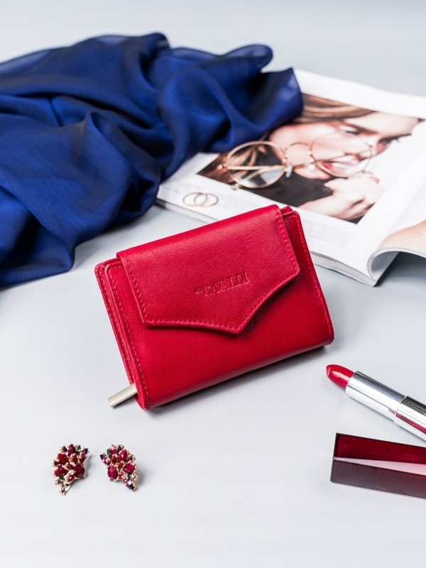 Women's Leather Wallet Red 2409