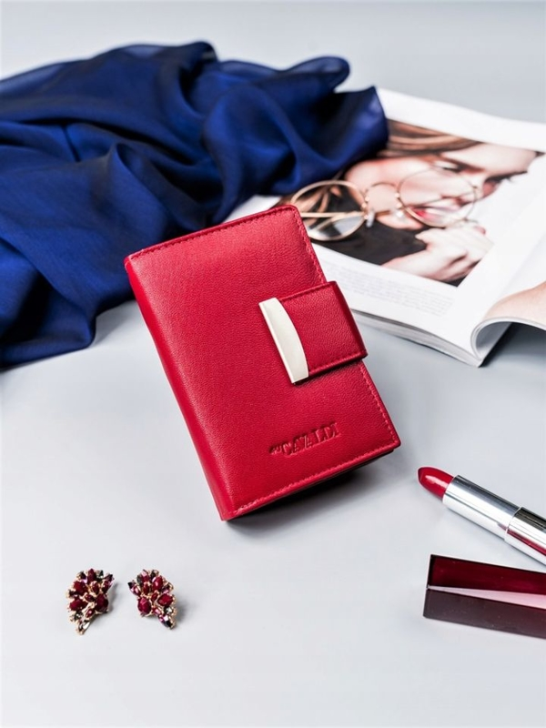 Women's Leather Wallet Red 2412
