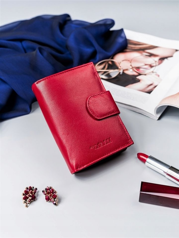 Women's Leather Wallet Red 2413