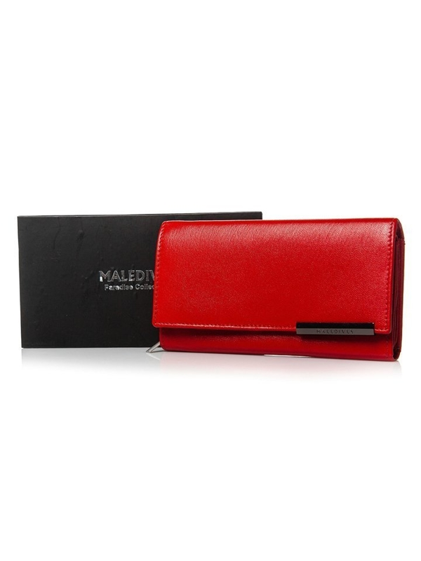 Women's Leather Wallet Red 2689