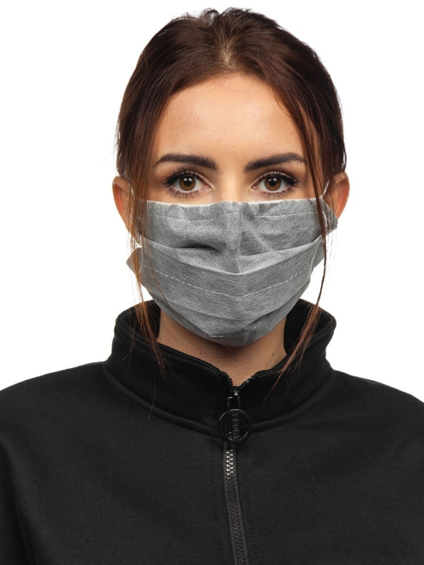 Women's Triple-layered Reusable Protective Face Mask Grey Bolf 002