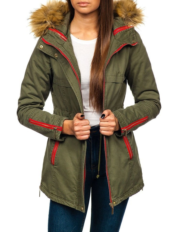Women's Winter Jacket Green Bolf M888