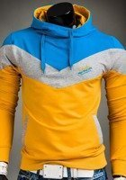 Yellow Men's Printed Hoodie Bolf 4555
