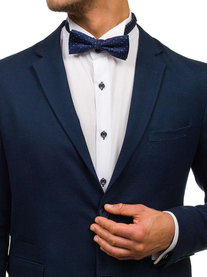 Men's Elegant Bow Tie Navy Blue Bolf M035-A