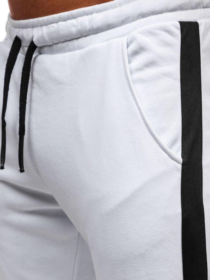c53198830 Men's Jogger Sweatpants White Bolf 11120 WHITE