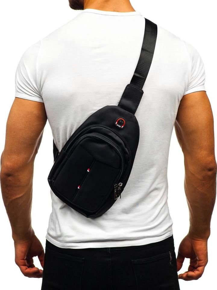 Men S Shoulder Bum Bag Black Bolf T48 Black