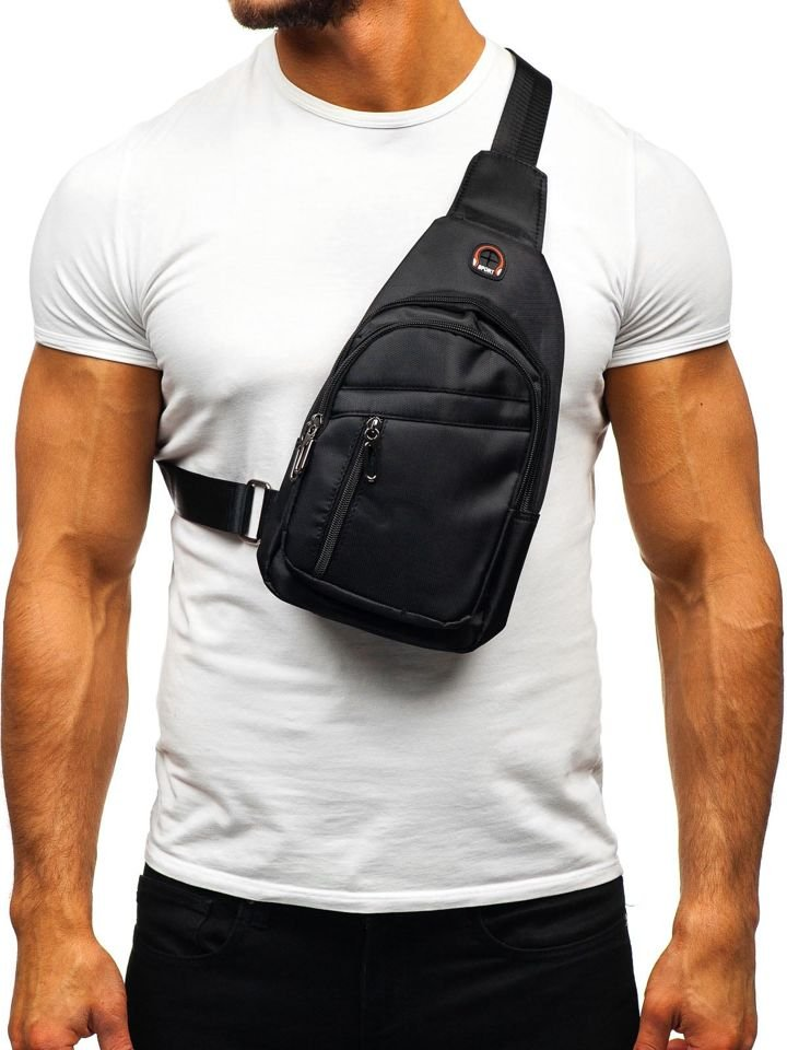 Men S Shoulder Bum Bag Black Bolf T50 Black