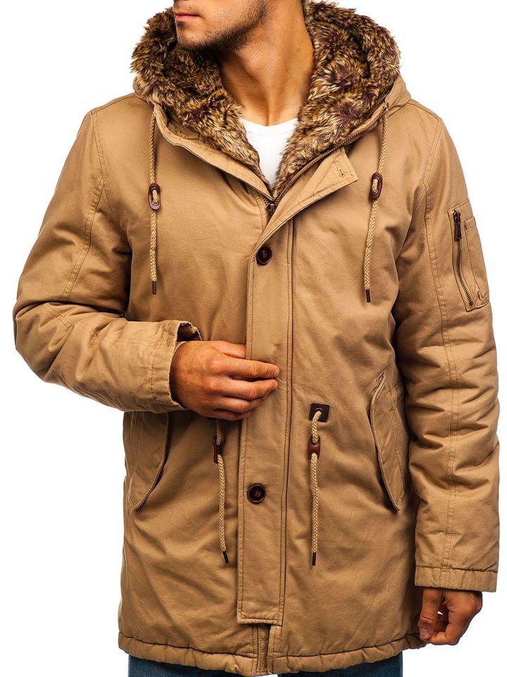 2019 echt guter Verkauf große Auswahl Men's Winter Parka Jacket Beige Bolf 1065
