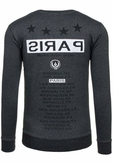 Anthracite Men's Printed Sweatshirt Bolf 1249