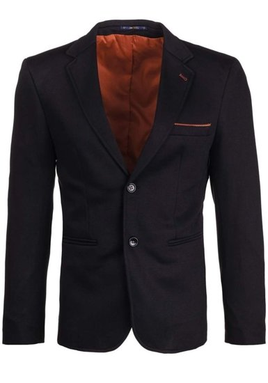 Black Men's Elegant Suit Jacket Bolf 406-1