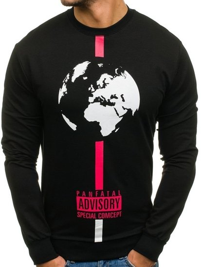 Black Men's Sweatshirt Bolf 0388