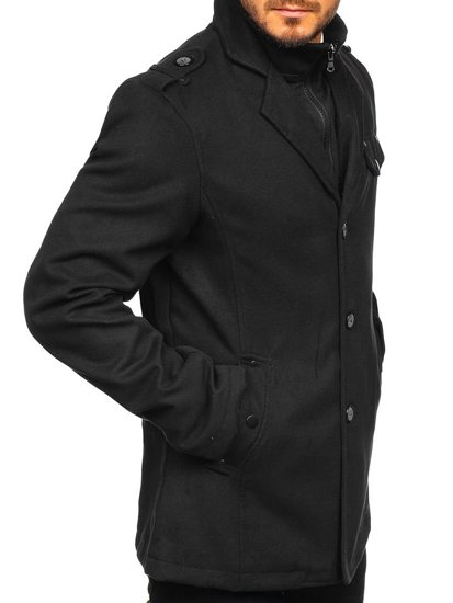 Black Men's Winter Coat Bolf 8853