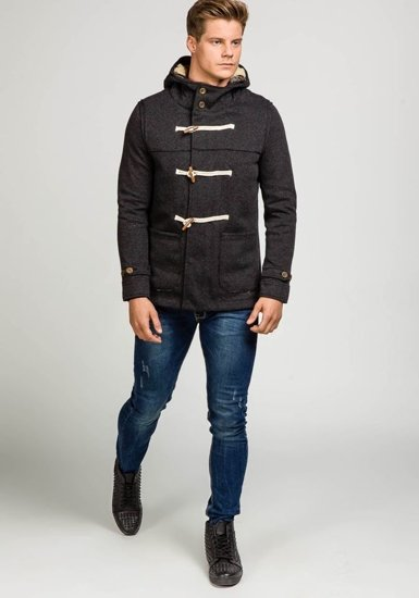Black Men's Winter Jacket Bolf 9032