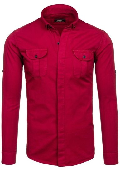 Claret Men's Long Sleeve Shirt Bolf 0495