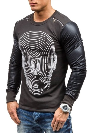 Graphite Men's Printed Sweatshirt Bolf 218