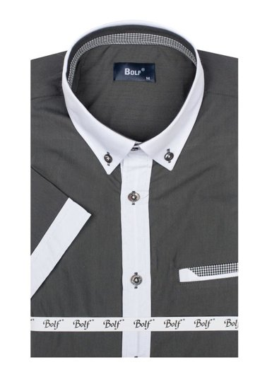 Graphite Men's Short Sleeve Shirt Bolf 6538