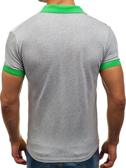 Green Men's Polo Shirt Bolf 4037