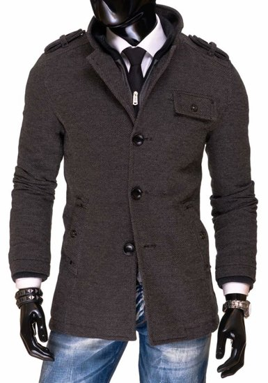 Grey Men's Winter Coat Bolf 2207