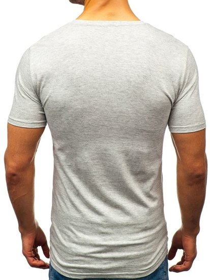 Light Grey Men's Printed T-shirt Bolf 7434