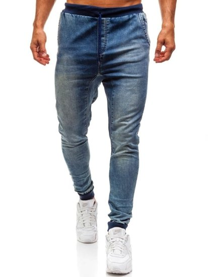 Men's Baggy Jeans Navy Blue Bolf 005