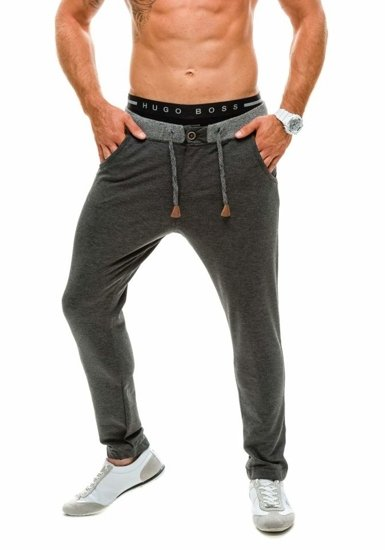 Men's Baggy Sweatpants Anthracite Bolf 1034