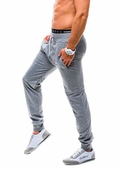 Men's Baggy Sweatpants Grey Bolf 7027
