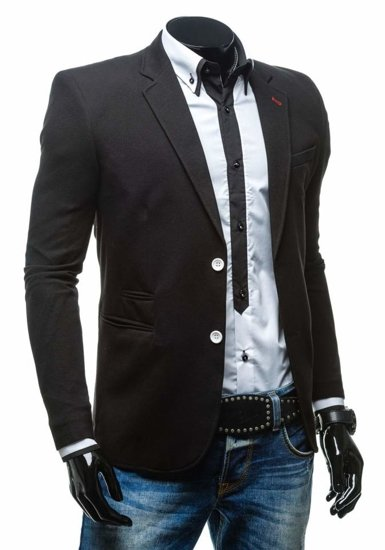 Men's Casual Blazer Black Bolf 405