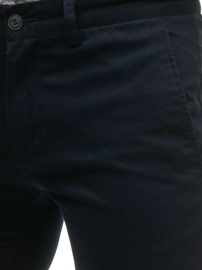Men's Chino Trousers Navy Blue Bolf HO7