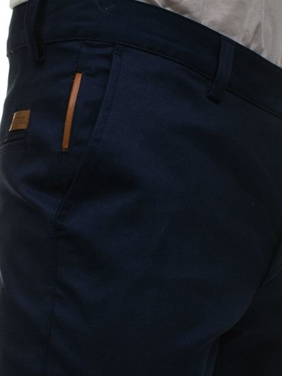 Men's Chinos Navy Blue Bolf 0100