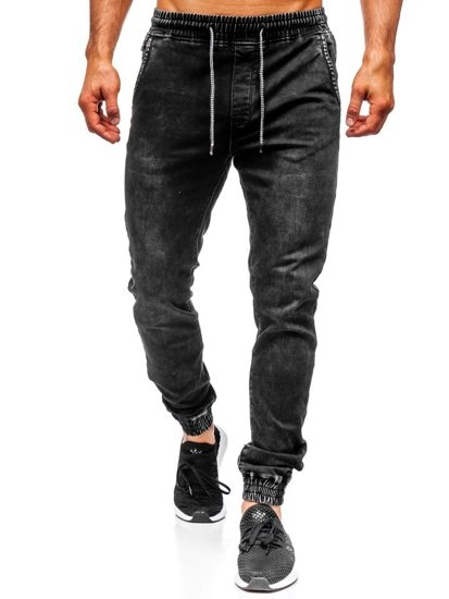 Men's Denim Joggers Black Bolf KA1087