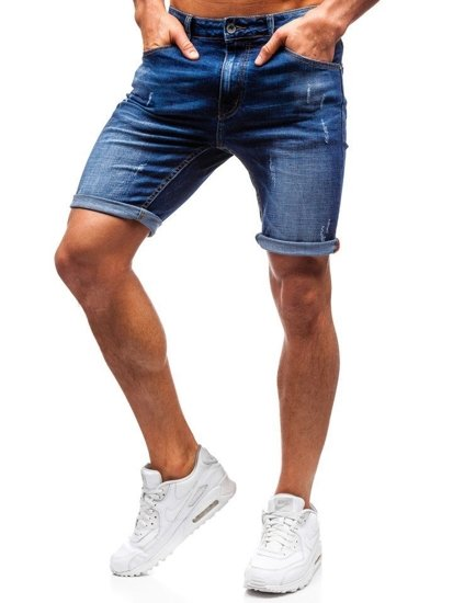 Men's Denim Shorts Navy Blue Bolf T575