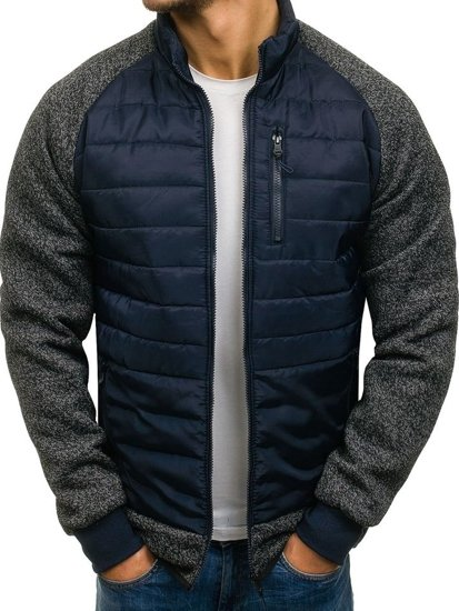 0b21c20d9 Image is loading West-Louis-Men-039-s-Spring-Jacket-Large-. Men s Down Jacket  Navy Blue ...