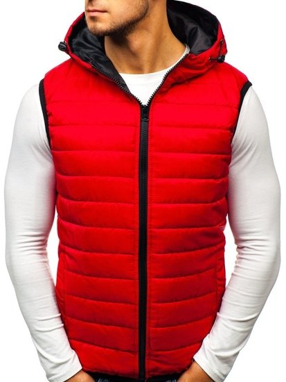 Men's Hooded Gilet Red Bolf AK88