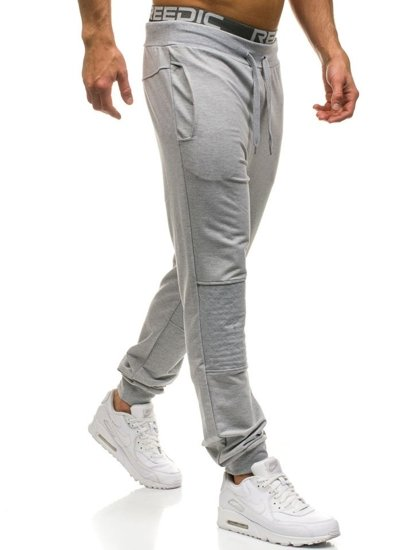 Men's Jogger Sweatpants Grey Bolf W2667