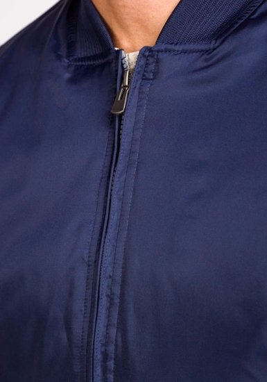 Men's Lightweight Bomber Jacket Navy Blue Bolf 169a
