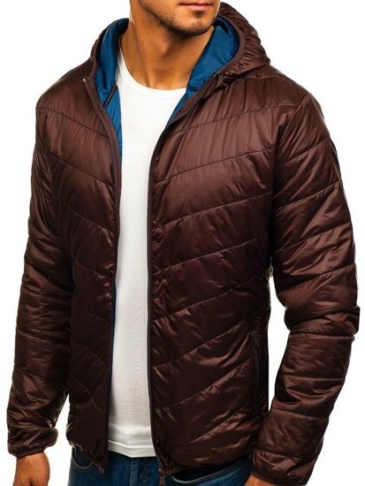 Men's Lightweight Down Jacket Brown Bolf 139