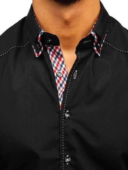 Men's Long Sleeve Shirt Black Bolf 3707